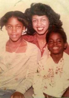 Dr. Vicki Lee with her two children Ken and Venus