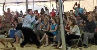 Townsend preaching in NC