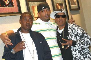 Venus L. Burton in her rapper days with two friends