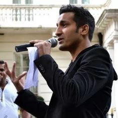 Wilson Chowdhry speaking in London