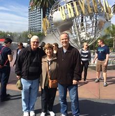 Wooding family at Universal studios