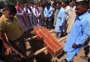 Smaller Funeral of Pakistani Christian hero