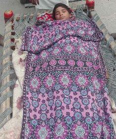 smaller Body of dead Pakistani boy