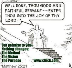Cartoon on Chick website