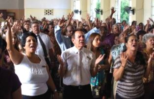 Church service in Cuba