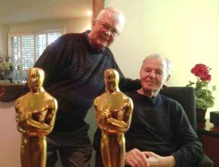 Dan Wooding with Al Kasha and his two Oscars
