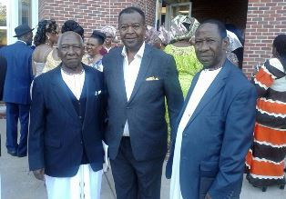 Dr. Lumala right with friends