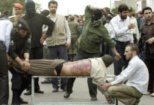 Man being lashed in Iran