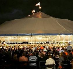 Many nights the tent overflowed in Burlington