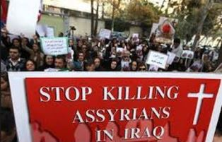 Protest by Assyrian Christians