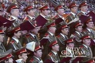 Red Army choir in Moscow