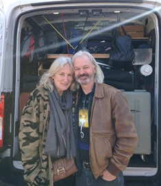 The Campbells with their cargo van