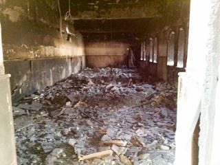 mi The heavily damaged and burned Tahira Immaculate Syriac Catholic Church in Baghdeda. 10 25 2016