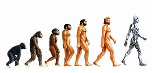 smaller The evolution of man