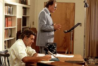 Billy Graham with Cliff Barrows during recording