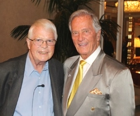 Dan Wooding with Pat Boone at MFI breakfast