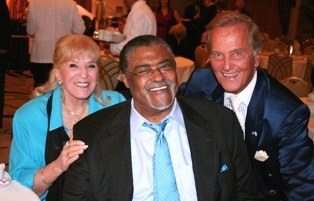 Shirley and Pat Boone with Rosey Grier