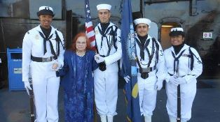 Verna Linzey at Battle of Midway event