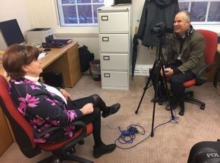 Baroness Cox with Peter Wooding