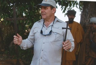 Bob teaching on Tana Kirkos Island