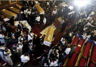 Coffins in Cairo church