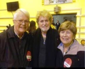 Dan and Norma Wooding with Jon Anderson in Anaheim
