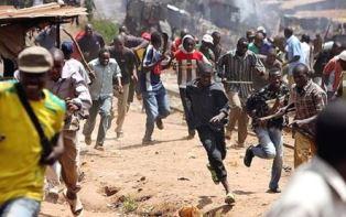 Fulani herdsmen attacking a Christian village