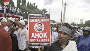 Protests again Ahok