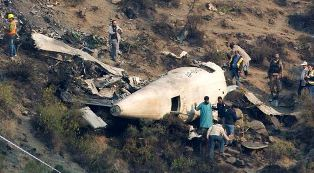 wreckage of Pakistani plane