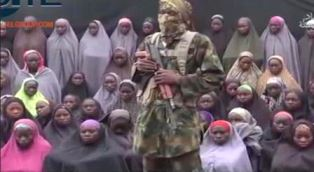 Chibok schoolgirls from video with Boko Haram fighter