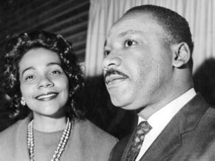 Coretta Scott King with her husband
