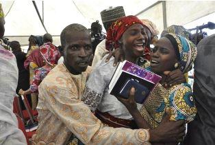 Joyful reunion for Chibok girl