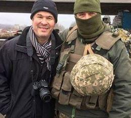 Peter with Ukrainian soldier