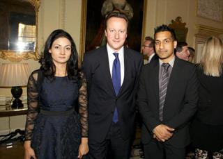 mi Wilson and Juliet Chowdhry with fotmer British Prime Minister David Cameron 02 02 2017