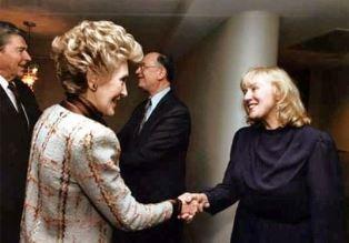 Ben and Ruth Amstrong greet Regans at NRB