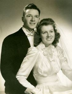 Ben and Ruth on their wedding day