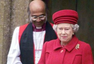 Bishop Ali with the Queen