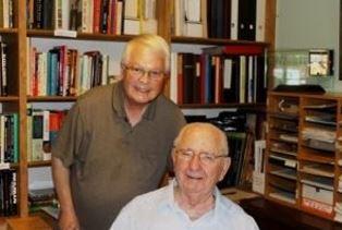 Dan Wooding with Dale Kietzman at his home