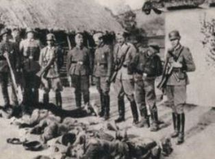 Polish villagers killed by German troops