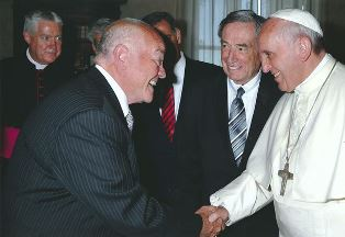 Tim Timmons meets with Pope Benedict