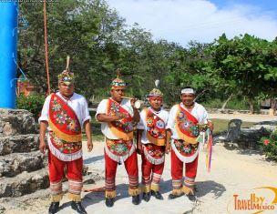 Totonas in native dress