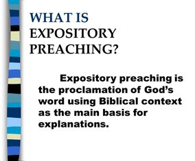 What is expositary Preaching