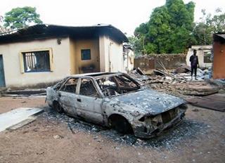 mi Houses destroyed churches burned shops vanalized in Goska last December 03 02 2017