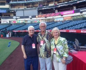Dan Wooding with Norm Nelson and his wife Cher