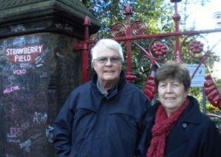 Dan and Norma outside Strawberry Field