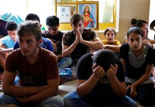 mi Displaced Iraqi Christians who fled from Islamic State militants in Mosul 04 20 2017