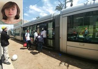 mi Hannah Bladon was attacked on Jerusalems light rail. photo credit MAARIV