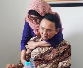 Ahok being comforted