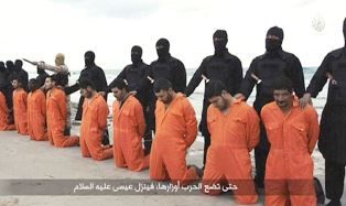 Coptic Christians about to be killed by ISIS