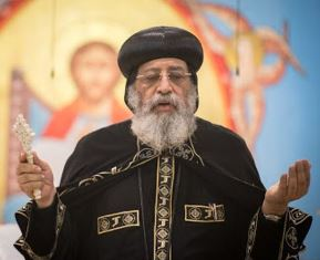Coptic pope during service